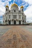 莫斯科- 6月03 :基督大教堂救主在莫斯科,拉斯 免版税库存照片