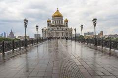 莫斯科- 6月03 :基督大教堂救主在莫斯科,拉斯 免版税图库摄影