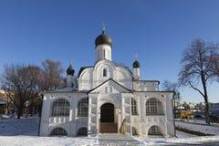 莫斯科 构想安娜, 16世纪的初期的教会 历史区Zaryadye 图库摄影