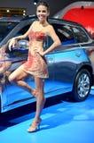 莫斯科- 29 08 2014 - 汽车陈列莫斯科国际汽车沙龙 免版税库存照片