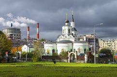 莫斯科建筑学对比  库存照片