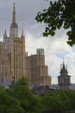 莫斯科建筑学 库存照片