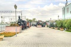 莫斯科 铁路运输博物馆  免版税库存图片