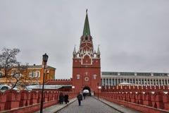 莫斯科- 15 04 2017年:克里姆林宫,冬时 免版税库存图片
