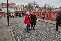 莫斯科- 15 04 2017年:克里姆林宫,冬时 免版税图库摄影