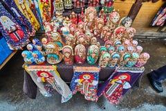 莫斯科- 22 04 2017年:在Izmailovsky克里姆林宫,莫斯科的市场 免版税库存图片