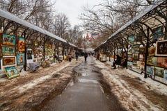 莫斯科- 22 04 2017年:在Izmailovsky克里姆林宫,莫斯科的市场 库存图片