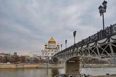 莫斯科- 04,04,2017 :基督cente的救世主大教堂 库存照片