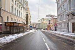 莫斯科 Bolshaya Dmitrovka 库存照片