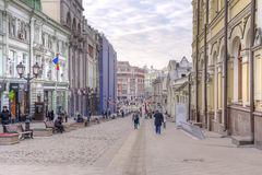 莫斯科 Kuznetsky多数街道 免版税库存图片