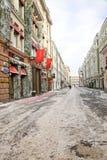 莫斯科 Stoleshnikov运输路线 免版税库存照片