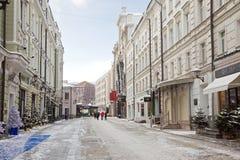 莫斯科 Stoleshnikov运输路线 免版税图库摄影