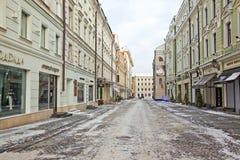 莫斯科 Stoleshnikov运输路线 免版税库存图片