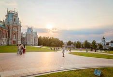 莫斯科 Tsaritsyno公园26 08 2015年 休闲的概念 图库摄影