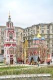 莫斯科 Zaryadye 1360年教会设立了乔治的st是年的修道院vladychny serpukhov 库存照片