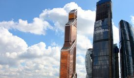 莫斯科skyscrapes 免版税库存照片