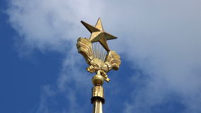 莫斯科VDNH大厦星 影视素材