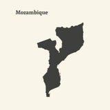 莫桑比克的概述地图 例证 免版税库存图片