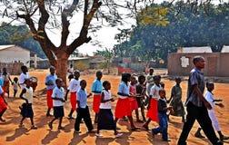 莫桑比克胜利天, Metarica,尼亚萨省, 9月07日 免版税库存图片