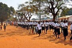 莫桑比克胜利天, Metarica,尼亚萨省, 9月07日 免版税库存照片