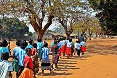 莫桑比克胜利天, Metarica,尼亚萨省, 9月07日 图库摄影