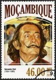 莫桑比克- 2006年:展示萨尔瓦多・达利1904-1989,画家 免版税库存图片