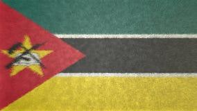 莫桑比克3D的原始的旗子图象 库存例证