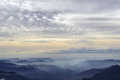 从莫罗岩石的日落 免版税库存照片