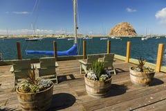 莫罗贝和岩石太平洋海岸江边港口加利福尼亚美国 免版税库存图片