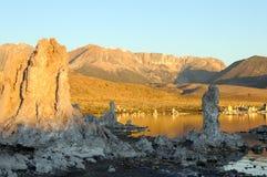 莫诺湖凝灰岩 免版税库存照片