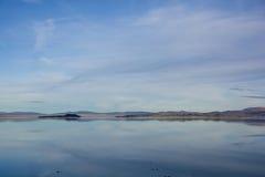 莫诺湖反射 库存照片