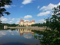 莫里茨堡城堡,萨克森在夏天 库存照片