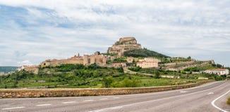 莫雷利亚城堡在西班牙 库存照片