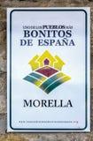 莫雷利亚西班牙的多数美丽的村庄 库存照片