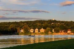 莫霍克族和哈德森河在沃特福德NY 免版税库存图片