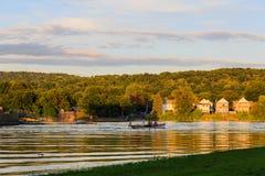 莫霍克族和哈德森河在沃特福德NY 图库摄影
