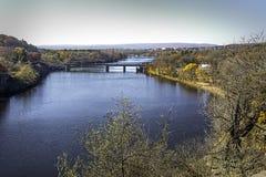 莫霍克族河在Rexford,纽约 免版税库存照片