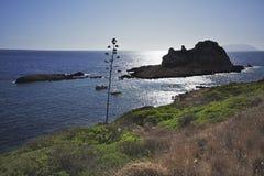 莱万佐岛海岛:岩石Faraglione群 西部西西里岛 南意大利 免版税库存照片
