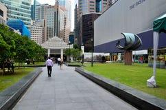 莱佛士坊中心商务区CBD地区和火车站入新加坡 库存图片