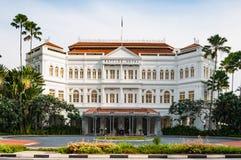 莱佛士酒店在新加坡 免版税库存照片