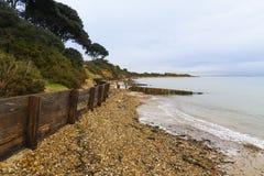 莱佩海滩– WWII桑树的发射地点怀有。 库存图片