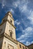 莱切大教堂塔,意大利 免版税库存图片