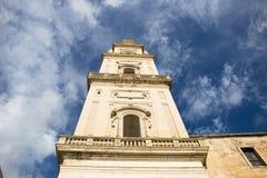 莱切大教堂塔,意大利 免版税库存照片