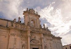 莱切大教堂,意大利, apulia 库存照片