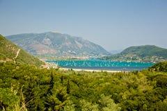 莱夫卡斯州海岛,希腊 免版税库存照片