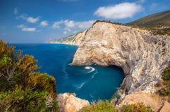 莱夫卡斯州的海岛,希腊美丽的景色  库存照片