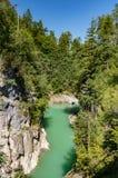 莱希河峡谷 库存图片