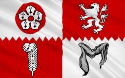 莱斯特郡县,英国旗子  图库摄影