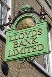 莱斯银行签到埋葬St埃德蒙兹 免版税图库摄影
