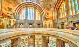 莱比锡,德国- 2016年7月17日:纪念碑的内部对Th的 免版税库存照片
